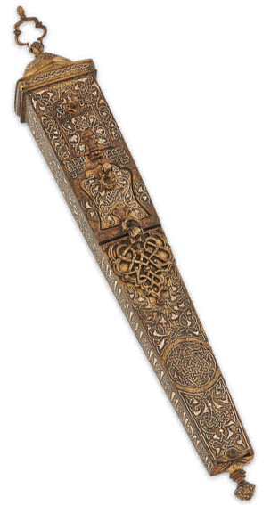 Pen Case, BC-5.867, Bronze with Silver Inlays, Herat (Afghanistan), 1210 A.D.