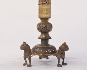 Lampstand, BC-6.255, Bronze, Herat (Afghanistan), 11/12th C.