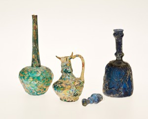 Long-Necked Bottles, BC-5.218, Glas, (north-eastern) Iran, 9/10 C.